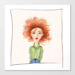 Woman with the Ginger Hair Canvas Print