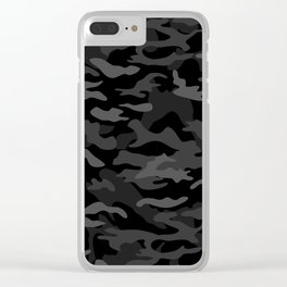 NEW AGE BLACK CAMOUFLAGE IN 4 SHADES OF GRAY BY SUBGRL Clear iPhone Case
