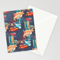 Spaceships and Badges Stationery Cards