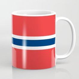Flag of Norway Scandinavian Cross and Coat of Arms Coffee Mug