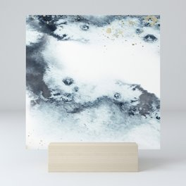 Blue marbling Mini Art Print