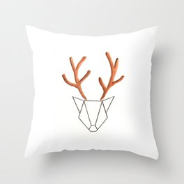 Cerf Origami Throw Pillow
