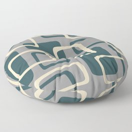 Mid Century Modern Abstract Squares Pattern 417 Floor Pillow