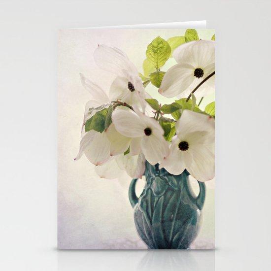 dogwoods in vintage vase Stationery Cards