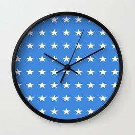 stars and blue-sky,light,blue,rays,hope,spangled,estrella,astre,pointed,azul,azure Wall Clock