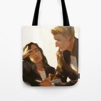 stucky Tote Bags featuring Stucky, Warm Afternoon by MMCoconut