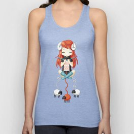 Knitting Meditation 2 Unisex Tank Top