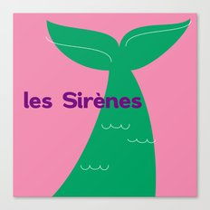 Les Sirènes Canvas Print