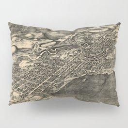 Bird's Eye View of Aspen, Colorado (1893) Pillow Sham