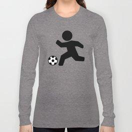 Stickfigure Soccer Player (Football) Long Sleeve T-shirt