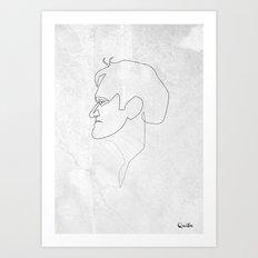 One line Quentin Tarantino Art Print