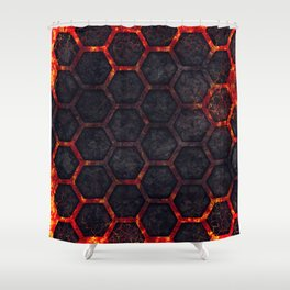 Lava Hexagons Shower Curtain