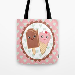 Ice creams in love Tote Bag