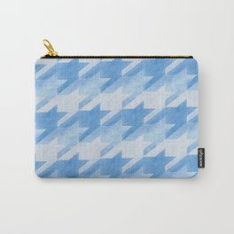 Blue Monochrome Houndstooths Carry-All Pouch
