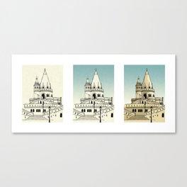 Fisherman's Bastion - Budapest - Hungary Canvas Print