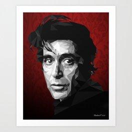 Al Pacino low poly Art Print