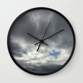 Dove in clouds Wall Clock