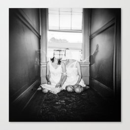 The Twins - Ghostly Holga Double Exposure Canvas Print