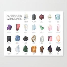 Gemstones and Geology - Alphabet Poster Canvas Print