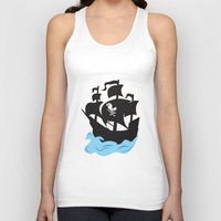 pirate ship Tank Tops featuring Pirate Ship by Anthony Rocco