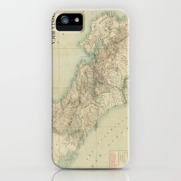 Vintage Map of Costa Rica (1903) iPhone Case