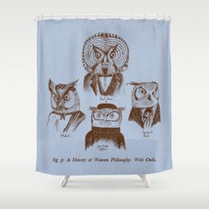 A History of Western Philosophy. With Owls. Shower Curtain
