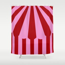 pink tent Shower Curtain