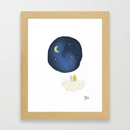 La tête dans les étoiles by Vanessa Art créations Framed Art Print