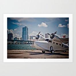 Downtown Miami Seaplane Art Print