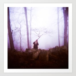 """Meditation"" - Holga GCFN double exposure Art Print"