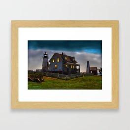 The Lights are on at Pemaquid Framed Art Print