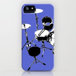 Drumkit Silhouette (backview) iPhone Case