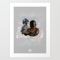 daft punk Art Prints featuring Daft Punk by LostMind