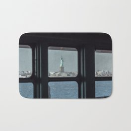Statue of Liberty from the ferry Bath Mat
