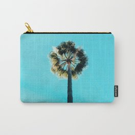 Modern tropical palm tree blue turquoise sky photography Carry-All Pouch