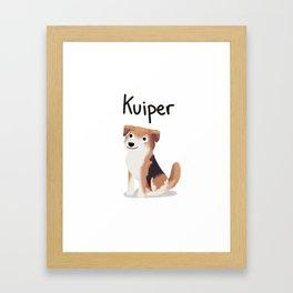 """Custom Dog Art """"Kuiper"""" Framed Art Print"""