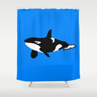 orca Shower Curtains featuring Orca by Crayle Vanest