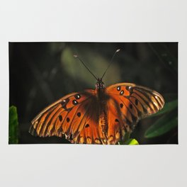 Shaded Fritillary Butterfly Rug