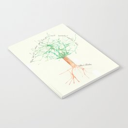 Organic Watercolor Tree with Einstein Quote Notebook