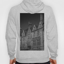 Stow-on-the-Wold Market Square Black and White Dynamic Historic Cotswolds Hoody