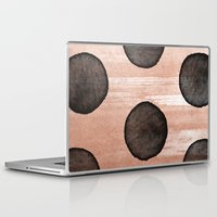 rose gold Laptop & iPad Skins featuring rose gold #2 by LEEMO