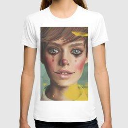 Harlequin. Fine-art Contemporary-art Digital-painting Yellow Teal Eyes T-shirt