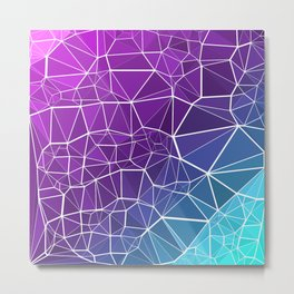 Pink, Purple, and Blue Triangles Metal Print
