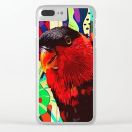 Sweet Parakeet Clear iPhone Case