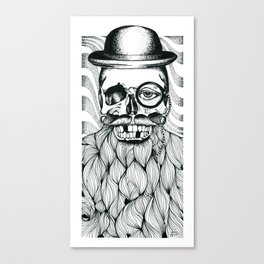 Mr. Skull Beard Canvas Print