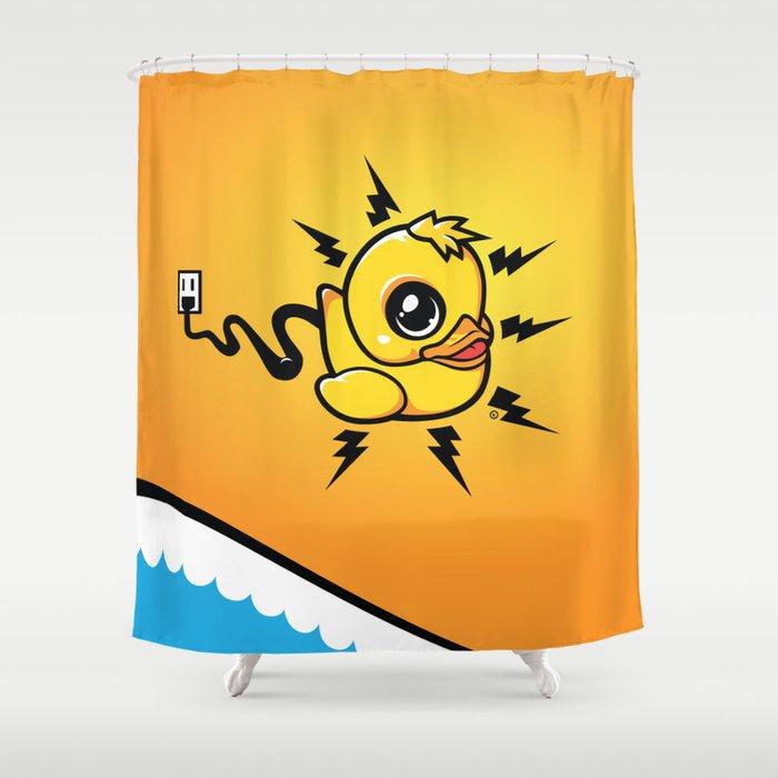 Unplug It! Shower Curtain