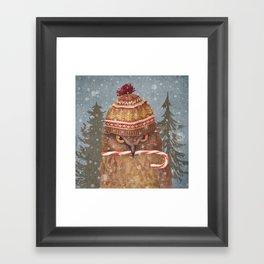 Christmas Owl  Framed Art Print