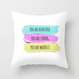 Self Worth Love Throw Pillow