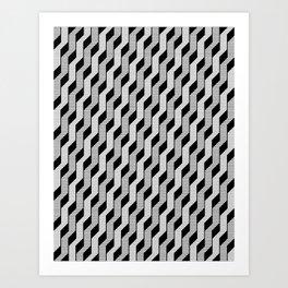 steps - Grey Art Print