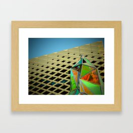 Architecture with Glass Sculpture Framed Art Print